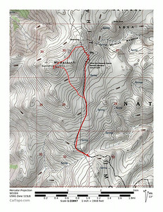 GPS track on topo map.