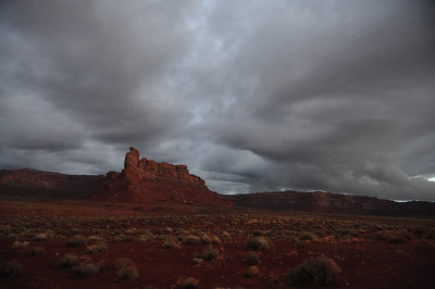 Valley of the Gods - Morning view from camp