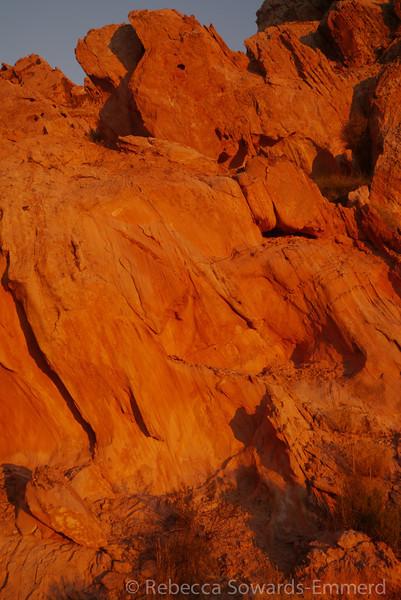 Scrambling around the rock
