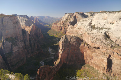 Angels Landing and Zion Canyon
