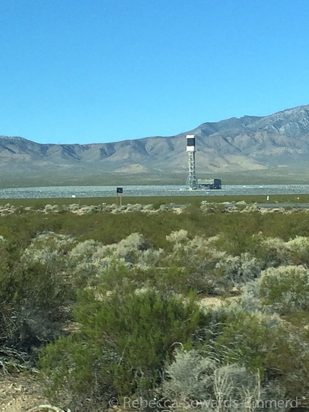 The following morning it was time to head home at the end of our two week adventure. Wah! I did notice that the Ivanpah solar project is coming along...