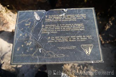 Sign marking the petroglyphs near Murphy's Well