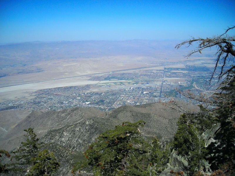Palm Springs from the upper tram station
