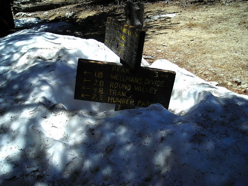 Still a bit of snow left<br /> <br /> this is .3 miles and 300 feet below the summit