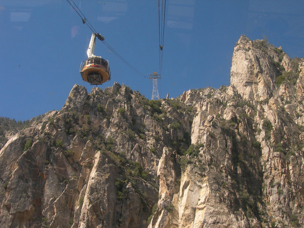 Back on the Palm springs tram
