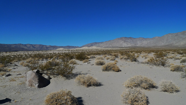 Panamint Dunes. It's a long walk to these dunes. Which means they aren't crawling with people.
