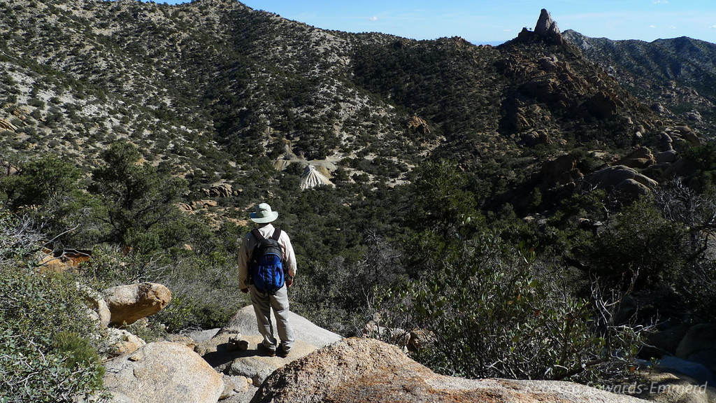 Almost out of the ravine and back into Caruthers Canyon - about even with the Giant Ledge mine.
