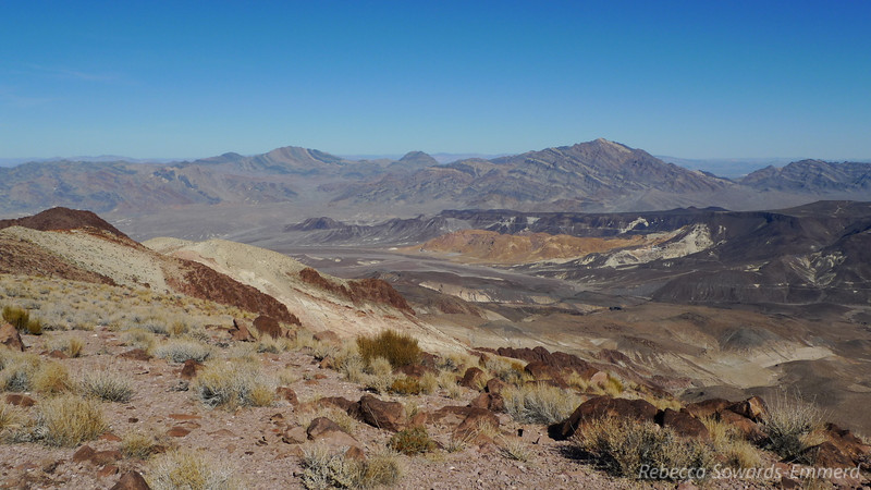 Schwaub and Pyramid Peaks in the distance. Ryan mining area in the midground