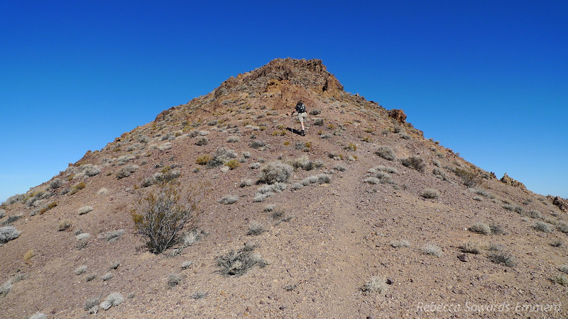 Climbing towards the rocky ridge. There is always use trail and it's never bad.