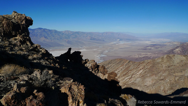 Looking north along Death Valley towards Furnace Creek