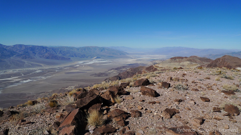 Summit of Perry - view up Death Valley.