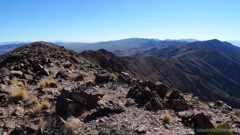Looking back along the ridge we just climbed. The point on the right is Dante's, the one we hit on the way to Perry.