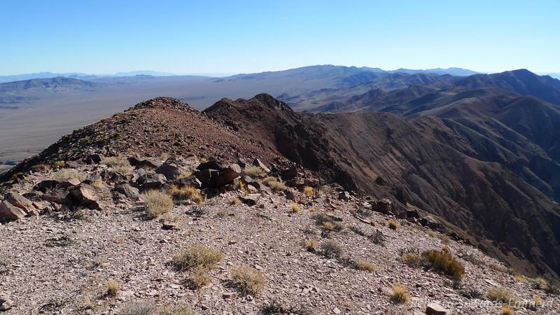Back down the ridge...