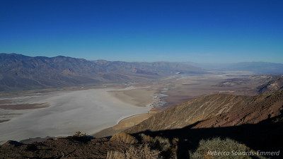 Dante's view is right above Badwater (lowest point in the US) but nearly 6000 ft higher.