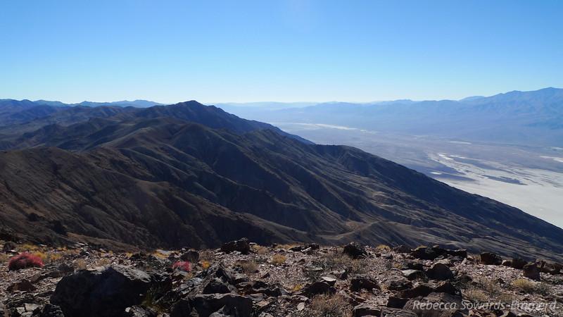 Looking south along the ridge towards Dante's