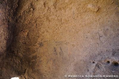 Inside a boulder at the ceremonial site