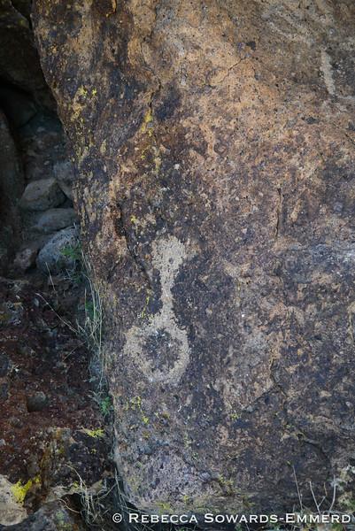 A nearby petroglyph