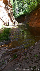 Creek walking.