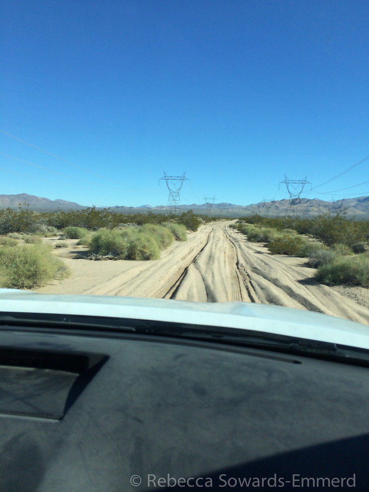 A peek at the deep sand on the road on the way in. Be careful out here - no 2WD!