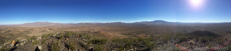 Mesquite range view - yesterday's substitute climb.