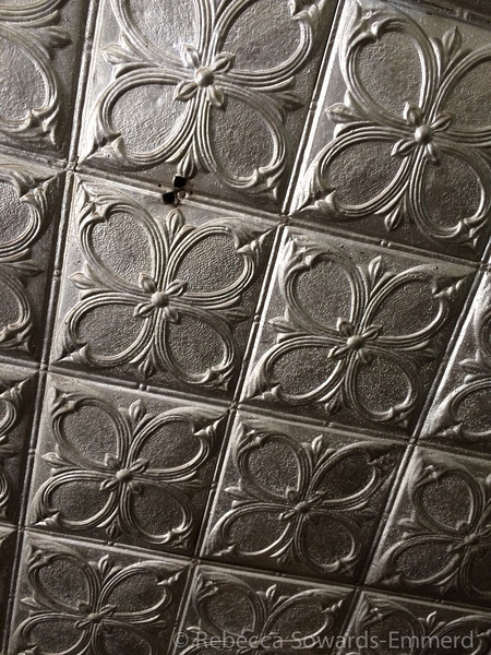 Tin ceiling in Pioneer