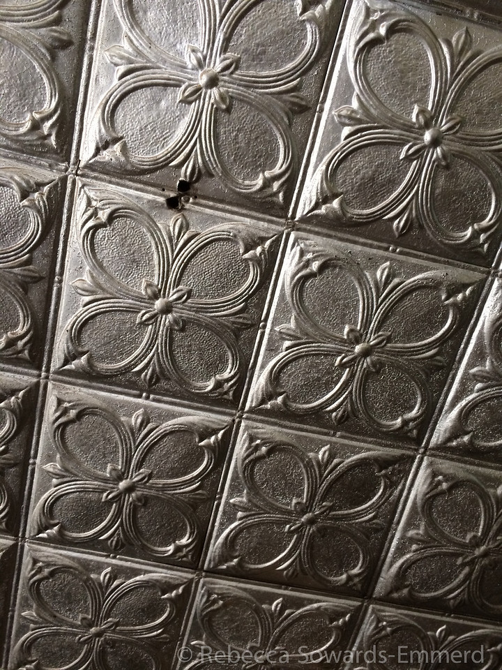 Tin ceiling in Pioneer
