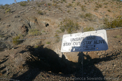 There are several mine diggings out here - be careful!