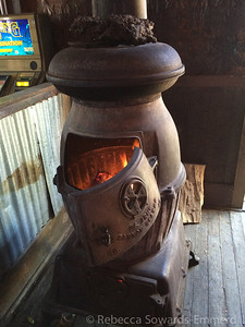 This is how the Pioneer Saloon stays heated. Love it.