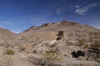 Mining ruins at the base of Hidden Hill
