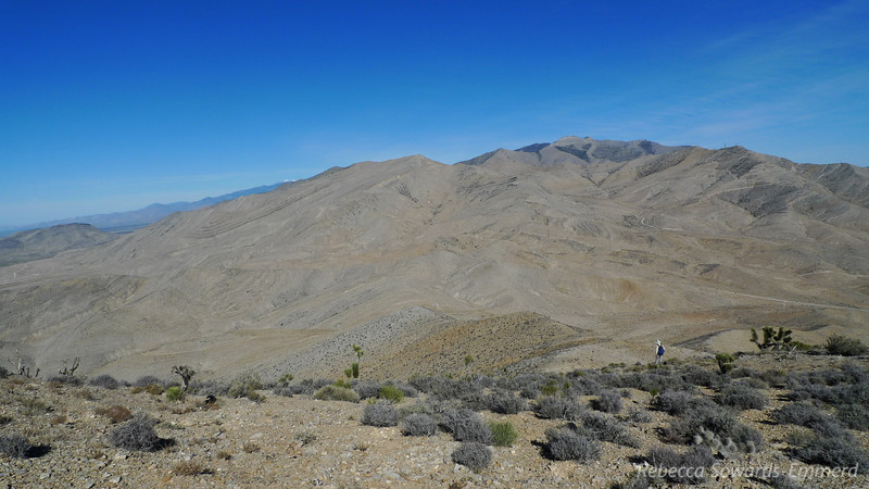 But first, back to the truck. In the larger version of this pic you can see the tiny white dot down the ridge - the truck.