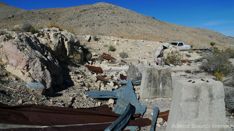 Mining junk. It's a fine line out here, the one drawn between trash and history.
