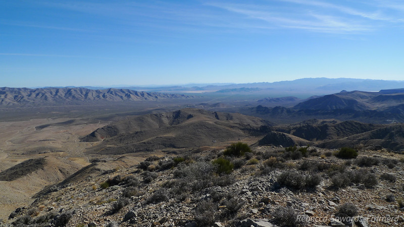 View back towards Mojave