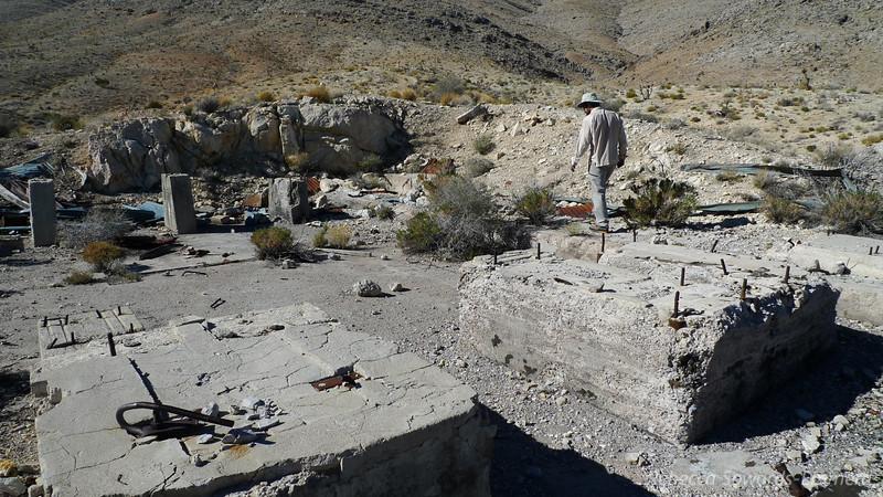 David wandering the old foundations of one of the mines or mills.
