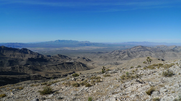 Looking towards death valley from the ridge.