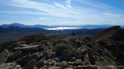 Lake mead in the distance. The terrain was much gentler on this side of the peak, nice for the descent.
