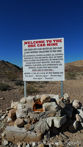 About a mile from where we parked we came across this sign.