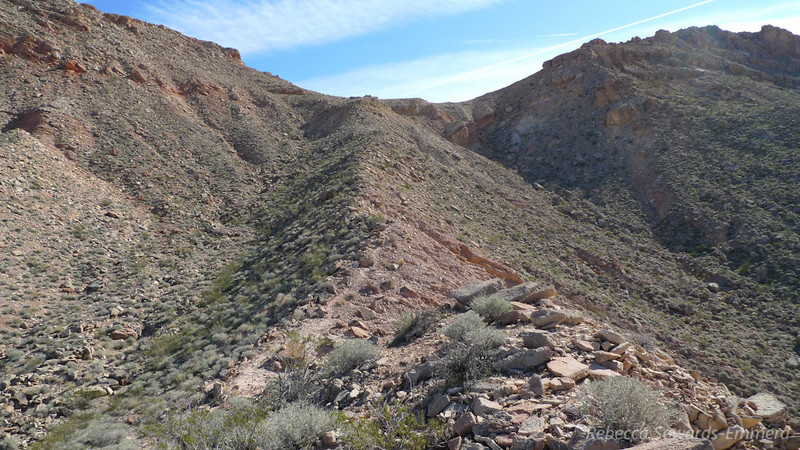 The ridge to the saddle