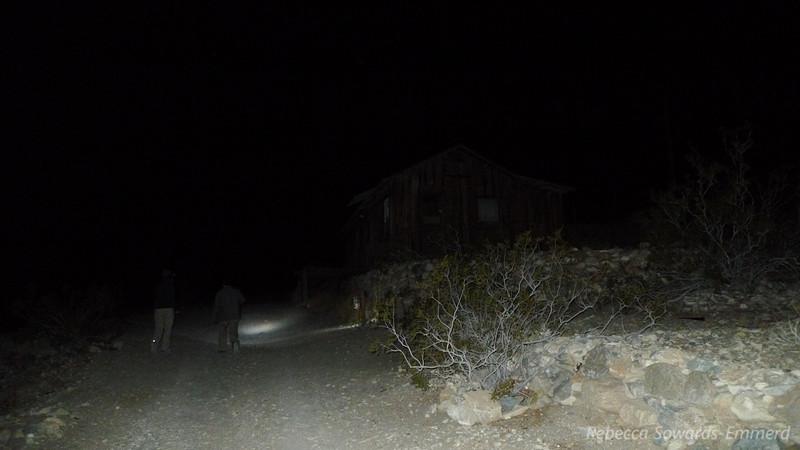 Walking to Minnietta Cabin to burn off dinner