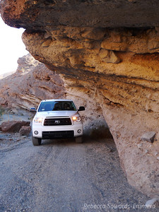 Required overhang shot of the new truck in telephone/tucki canyon (before closure point). I think every photo album I see of this canyon has this shot. :)