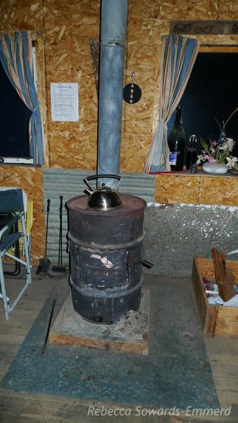 Wood stove. Tea anyone?