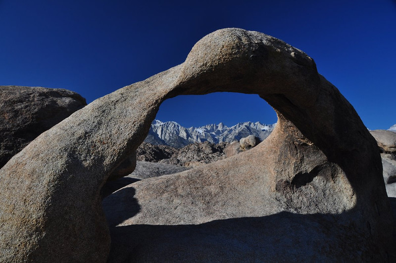 Mobius Arch and Mt Whitney