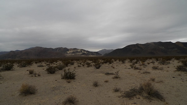 We're heading across the desert to the gap in the hills. It's about 3 miles away - distances are deceiving out here.