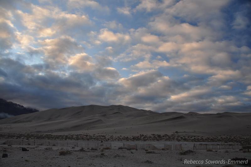 Eureka Dunes and drift fence