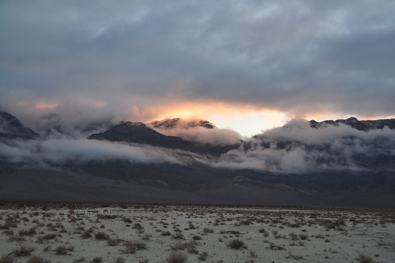 Morning view from Eureka Dunes campsite