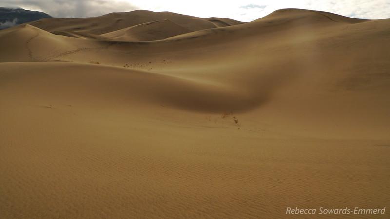 Eureka Dunes (my footprints on the middle ridge)