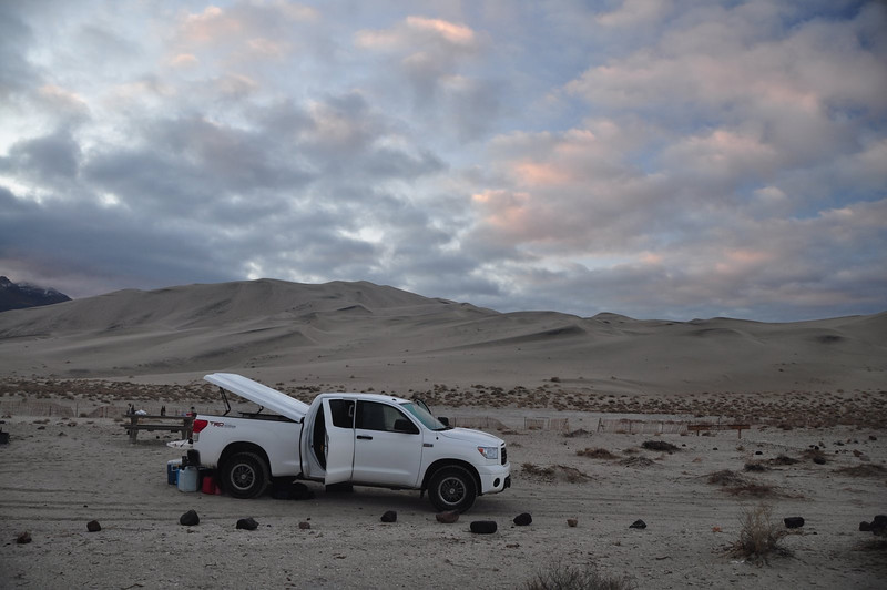 Eureka Dunes and clearing clouds