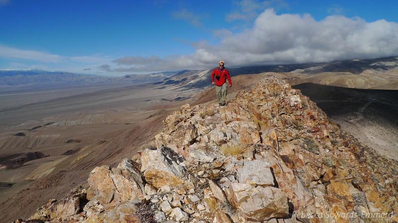 Antony on the summit ridge