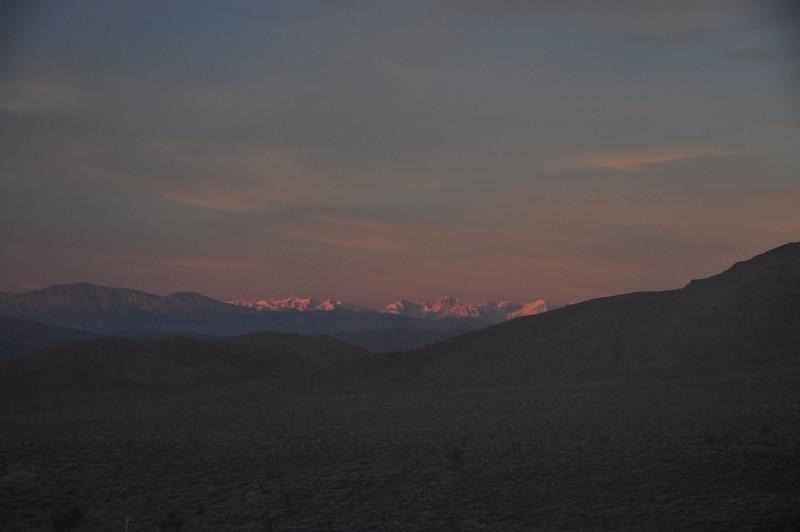 Zoomer on the morning sun hitting Split Mountain