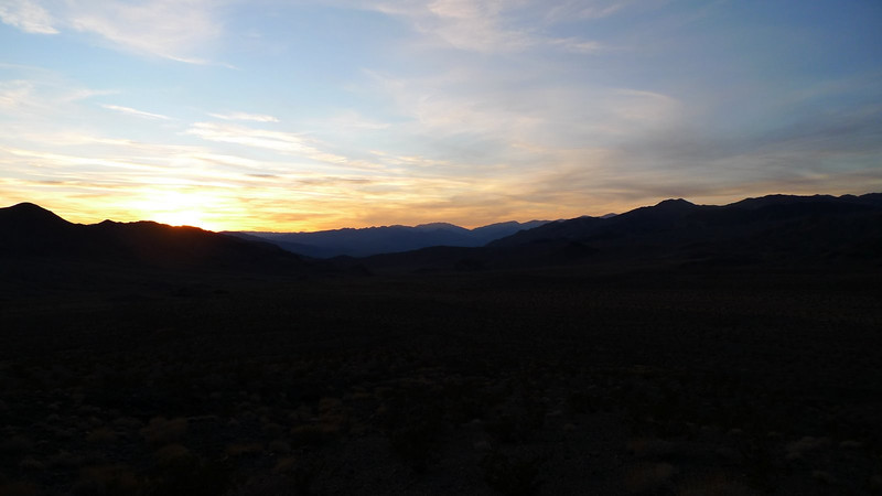 Sunset on the hike down