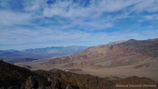 View north towards Death Valley and Telescope Peak (distant range)